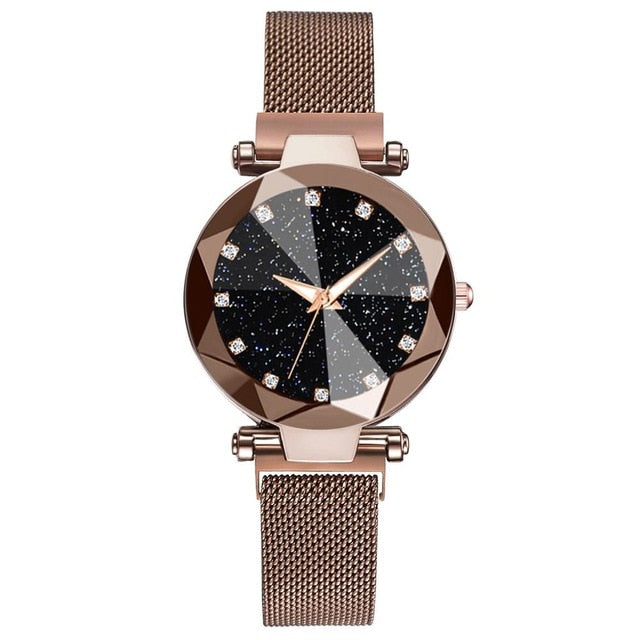 Ladies Magnetic Starry Sky Clock Luxury