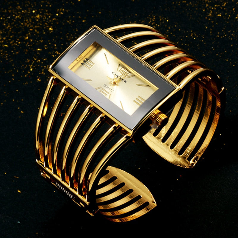 Womens Watch Luxury Fashion Rose Gold Bangle