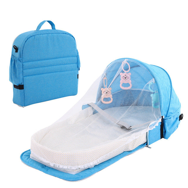 Portable Baby Bed Folding Baby Bed Nest Cot For Travel Foldable Bed