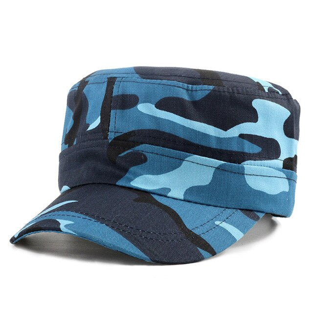 2019 New camouflage military cap high quality flat hats man woman
