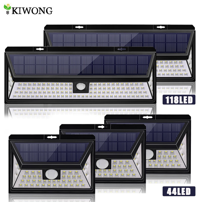 118/44 LED High Bright Solar LED Lights Solar Powered Motion Sensor