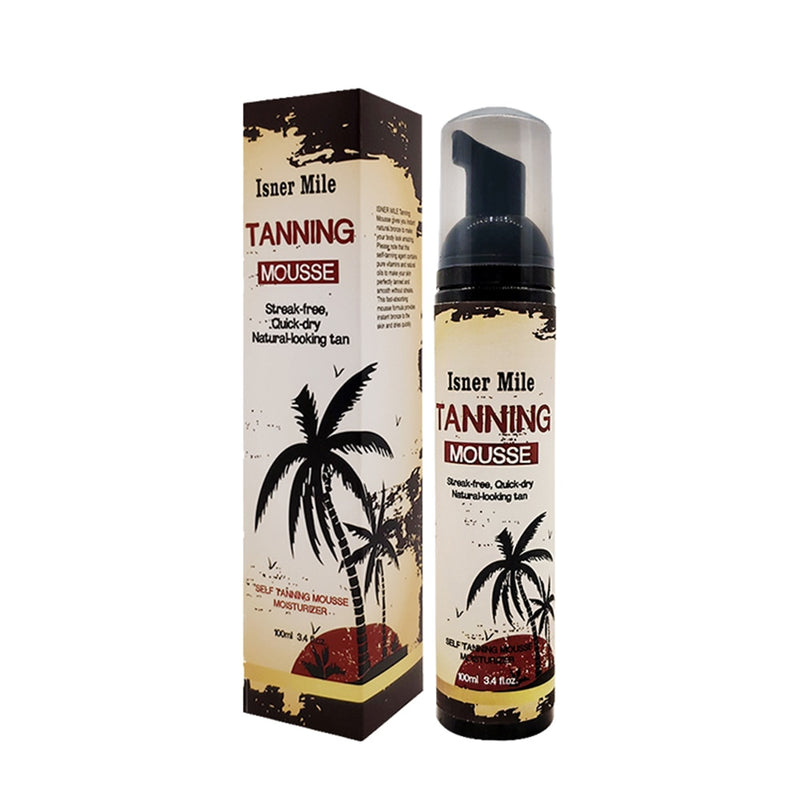 ISNER MILE Self Tanning Body Mousse Natural Solarium Long Lasting