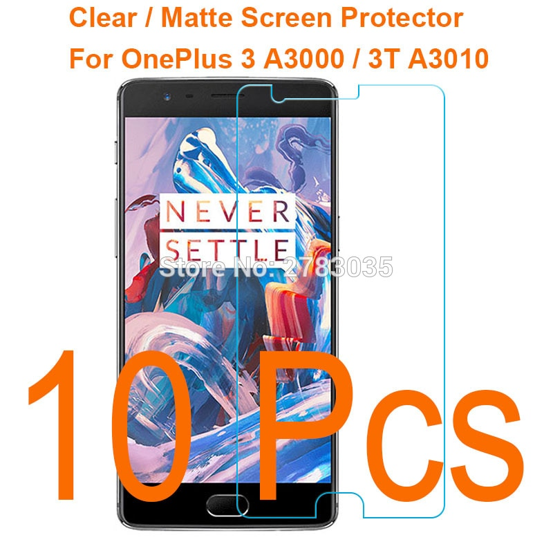 10 Pcs/Lot For OnePlus 3 A3000 / 3T A3010 HD Screen Protector