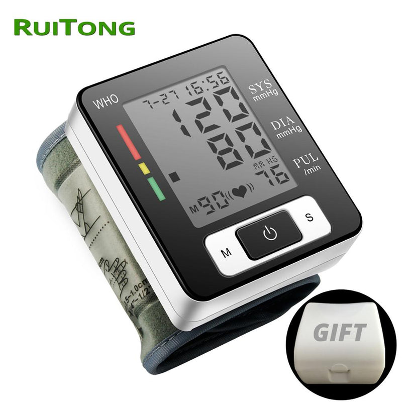 Drop Shipping Tonometer on Wrist Digital Blood Pressure Monitor for Blood Pressure Measuring Household Health Monitors RuiTong