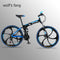 Wolf's fang Bicycle Folding Mountain bike 26 inch New 21 speed Road bikes Fat Snow Bike Alloy wheels bicycles Mechanical dua dis