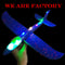 DIY Hand Throw Flying Glider luminous Planes Toys For Children Foam