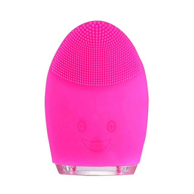 New Silicone Face Cleaning Mini Electric Massage Brush