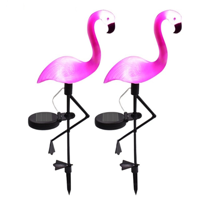 Flamingo Lawn Solar Lamp, Solar Garden Light Solar Yard Lights