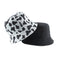 2020 New Fashion Reversible Black White Cow Print Bucket Hat
