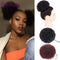 AILIADE Short Afro Puff Synthetic Hair Bun Chignon Hairpiece Drawstring Ponytail Kinky Curly Hair Extensions 8Inch 2 Colors