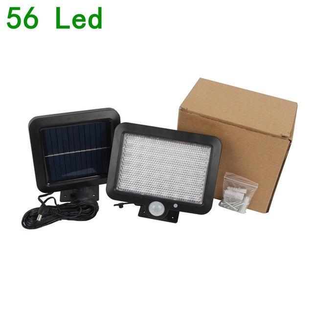 128 Led Solar Lamp Wall Light Outdoor Waterproof PIR Motion Sensor
