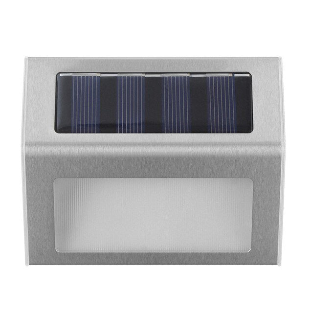 Outdoor Wall Light Modern Solar Powered Lamp With Smart Lighting