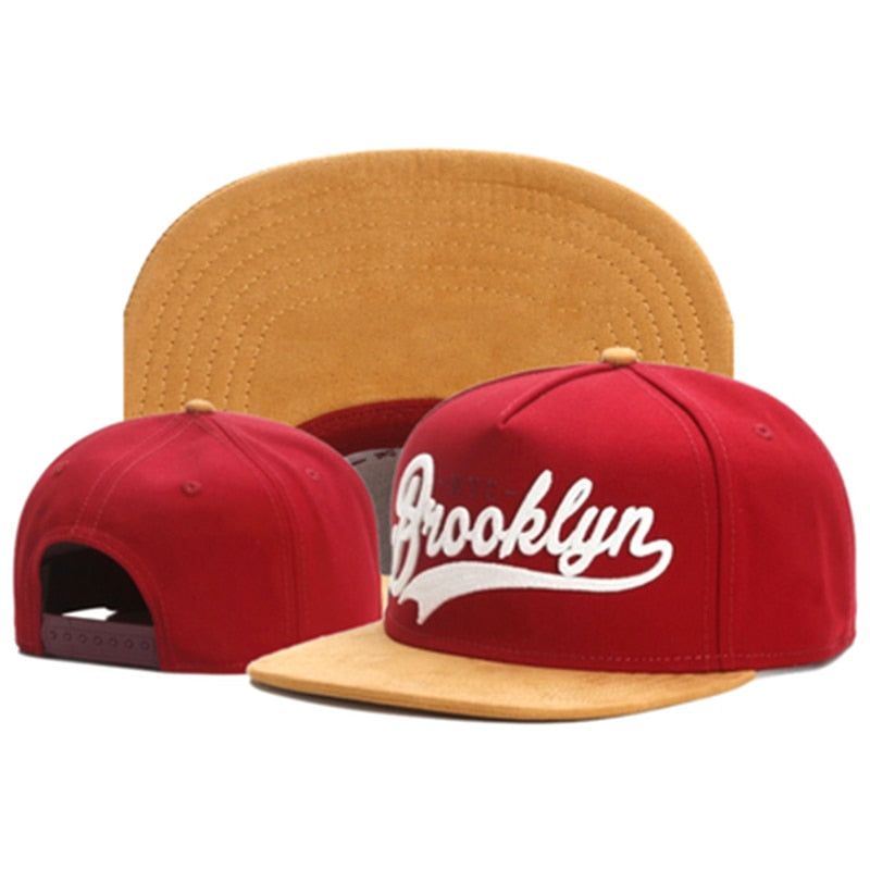 TUNICA Brand FASTBALL CAP BROOKLYN faux suede hip hop red