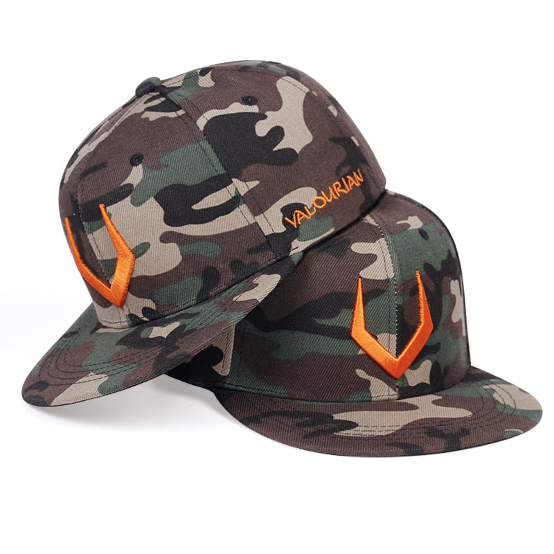 2020 new horn horn embroidery baseball cap fashion camouflage style