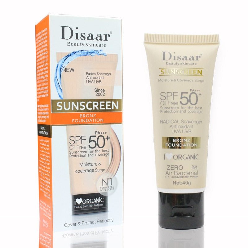 Disaar Facial Body Sunscreen Cream Sunblock Moisturizing SPF 50 Face
