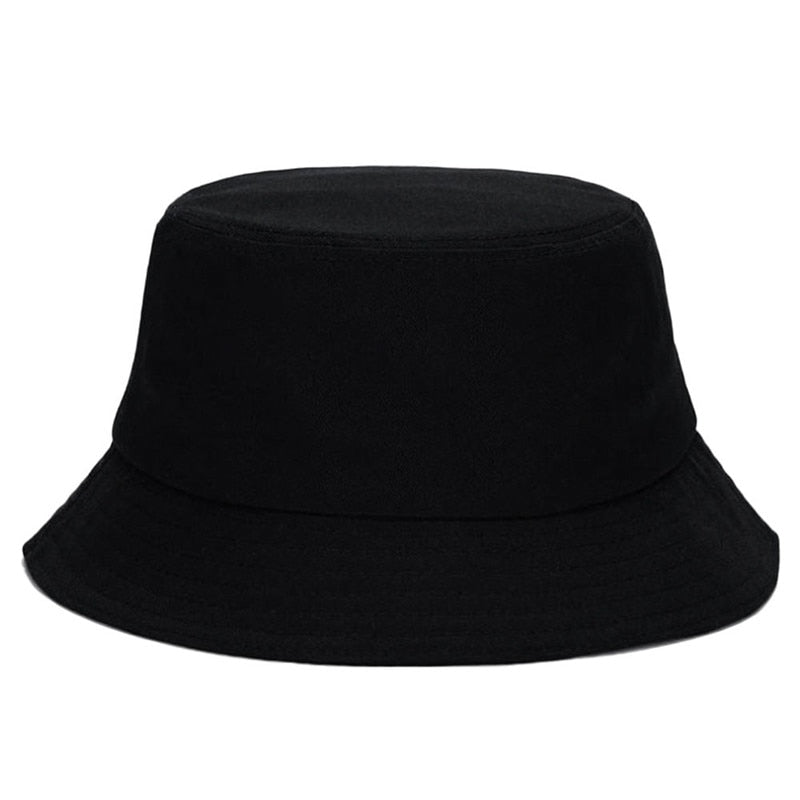Unisex Bucket Hat Black Men's Women's Summer Sun Hat Casual Cotton Foldable Fishing Outdoor Travel Camping Hiking Beach Cap
