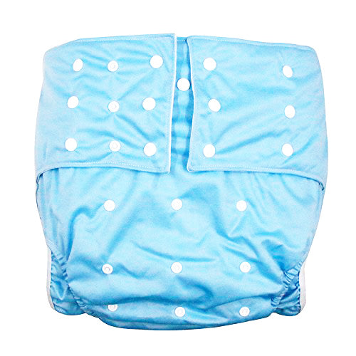 VEJYO Large Size 3 Row Snaps Reusable Adult Diaper Nappy PUL