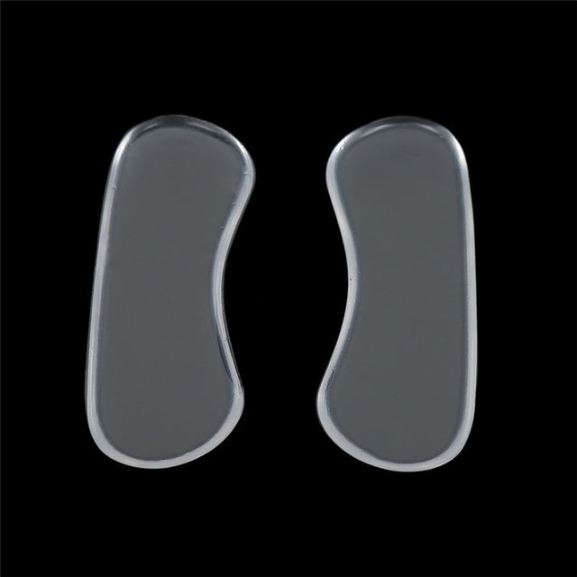 1 Pcs Rearfoot Invisible Silicone Transparent Non-Slip Foot Care Shoes
