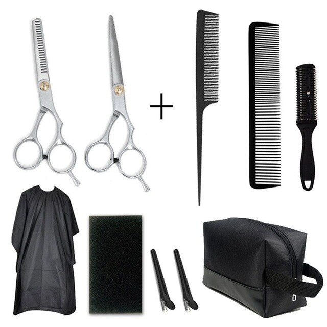 NEW 9 Pcs Professional Hair Cutting Scissors Set Hairdressing Scissors