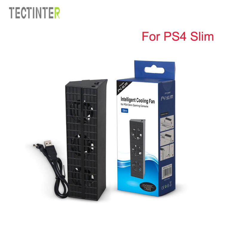 For PS4 slim Cooler,Cooling Fan For PS4 slim USB External 5-Fan Super