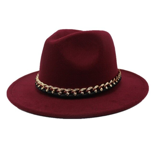 Seioum New Fashion Wool Pork Pie Boater jazz Top Hat For Women's