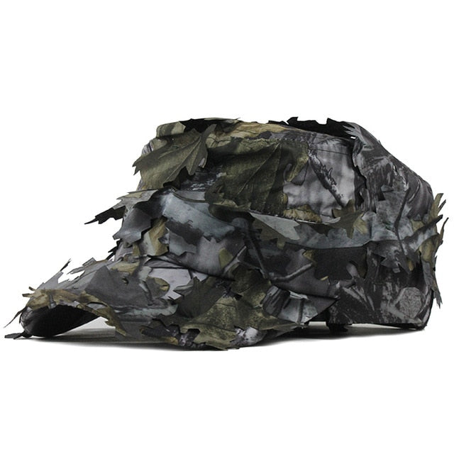 [FLB] Men's Flat Cap Washed Cotton Camouflage Leaf Military Hats