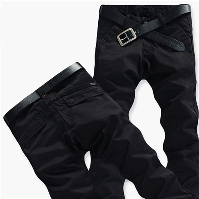 Mens Winter Pants Thick Warm Cargo Pants Casual Fleece Pockets Fur - Any.shopping