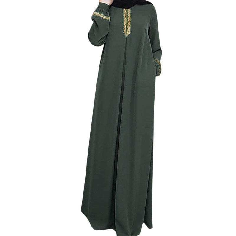 Cothes Muslim Abaya Women Muslim Kaftan Dress Modest Jilbab Print