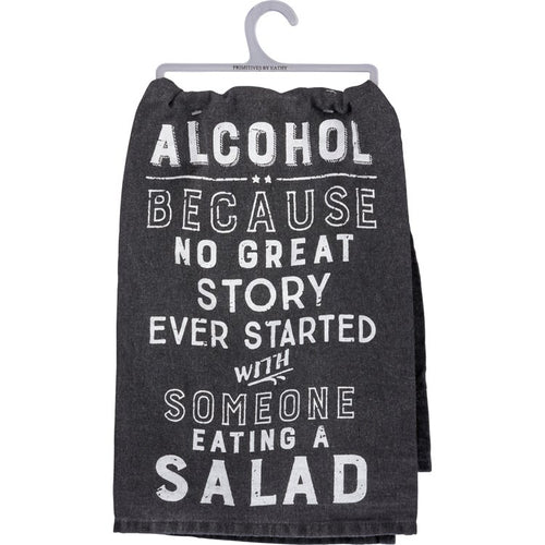 Towel: Alcohol and Salad