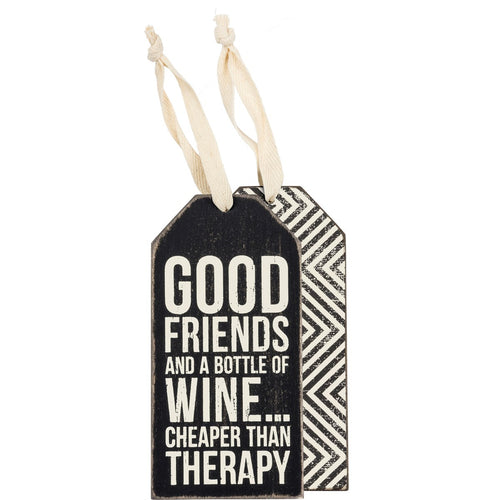 Good Friends Wine Tag