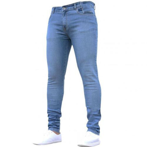Mens long-stretch jeans