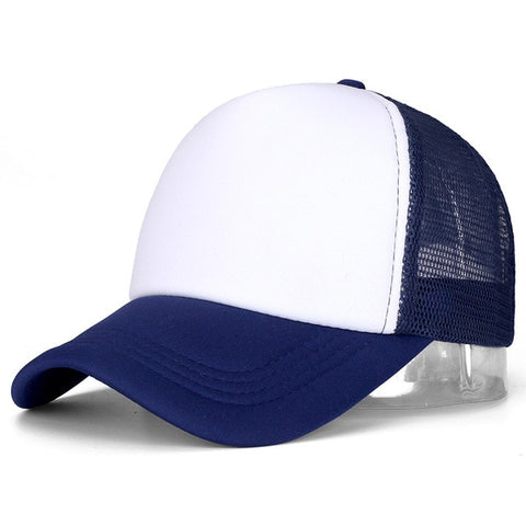 Navy Blue - Classic Trucker Baseball Cap