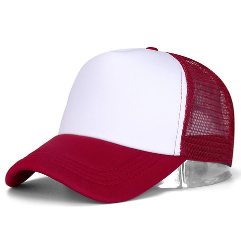 Dark Red - Classic Trucker Baseball Cap