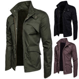 2020 Mens Solid Urban Style Jacket