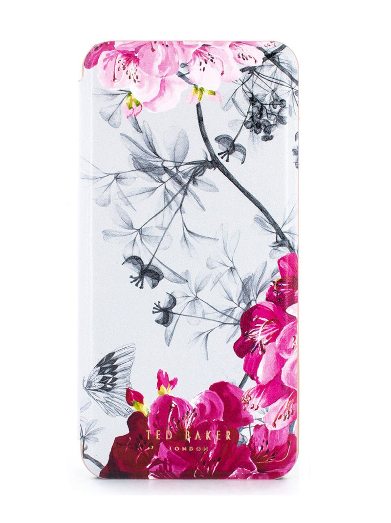 Hero image of the Ted Baker Apple iPhone 8 Plus / 7 Plus phone case in Babylon Nickel White