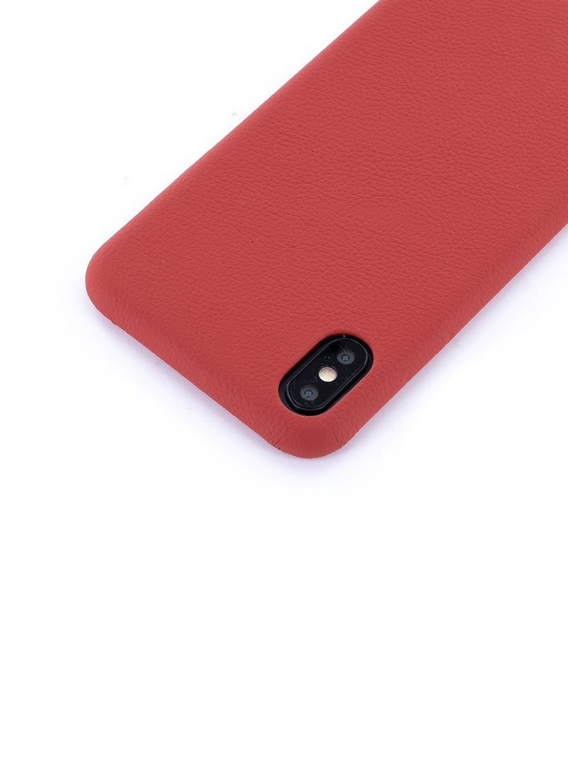 Detail image of the Greenwich Apple iPhone XS Max phone case in Red