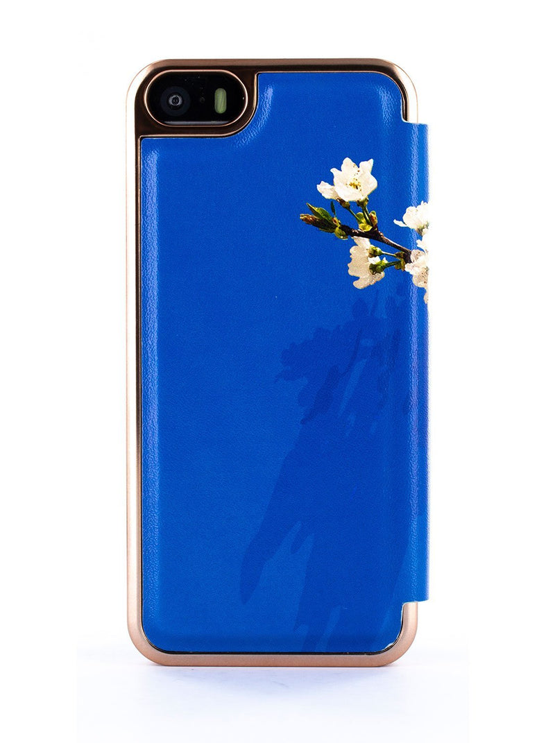 Back image of the Ted Baker Apple iPhone SE / 5 phone case in Blue