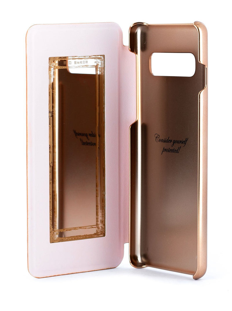Inside image of the Ted Baker Samsung Galaxy S10 phone case in Babylon Nickel