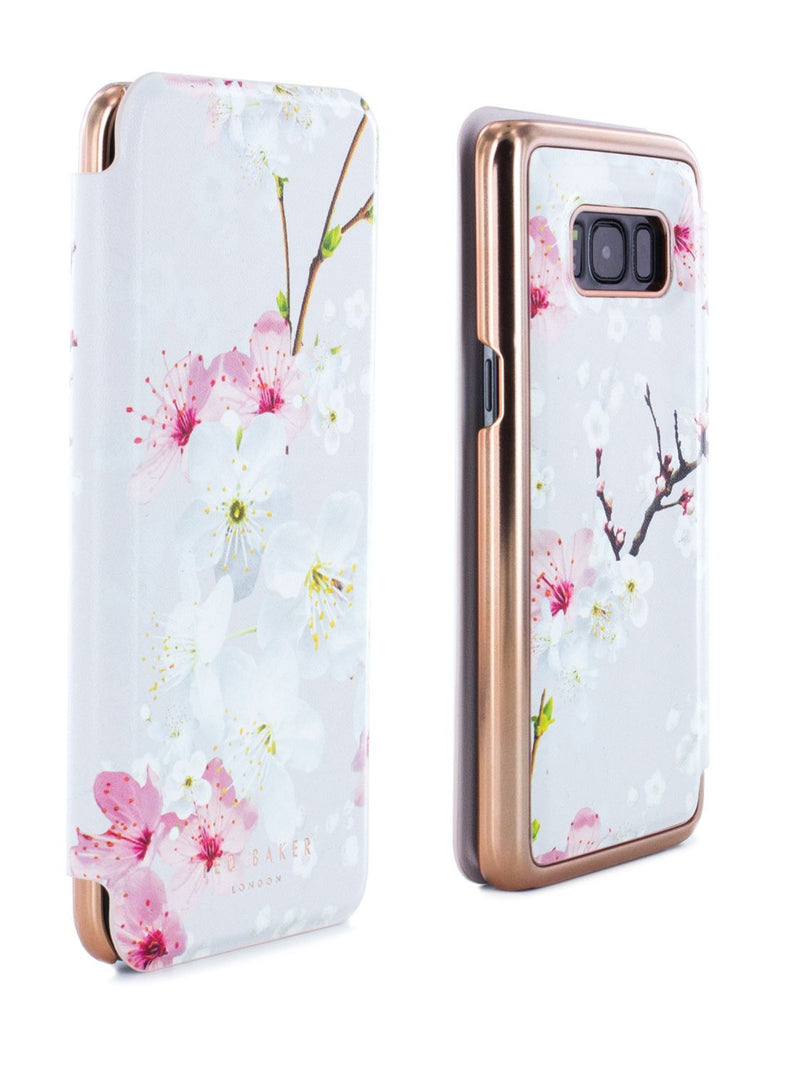 Front and back image of the Ted Baker Samsung Galaxy S8 phone case in White