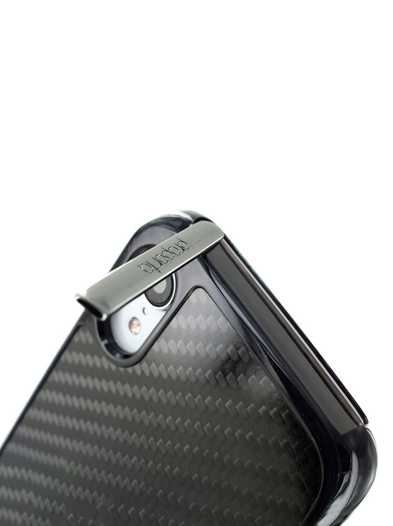 Kickstand detail image of the Proporta Apple iPhone XR phone case in Black