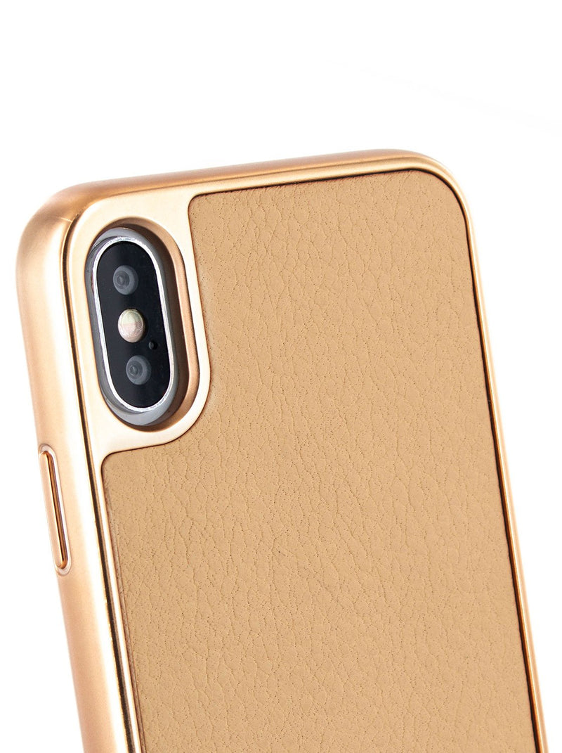 Detail image of the Ted Baker Apple iPhone XS / X phone case in Taupe