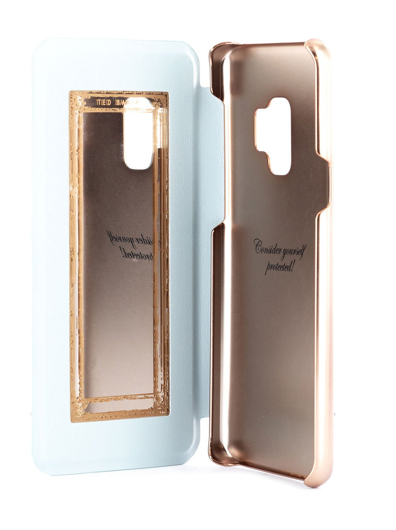 Inside image of the Ted Baker Samsung Galaxy S9 phone case in Blue