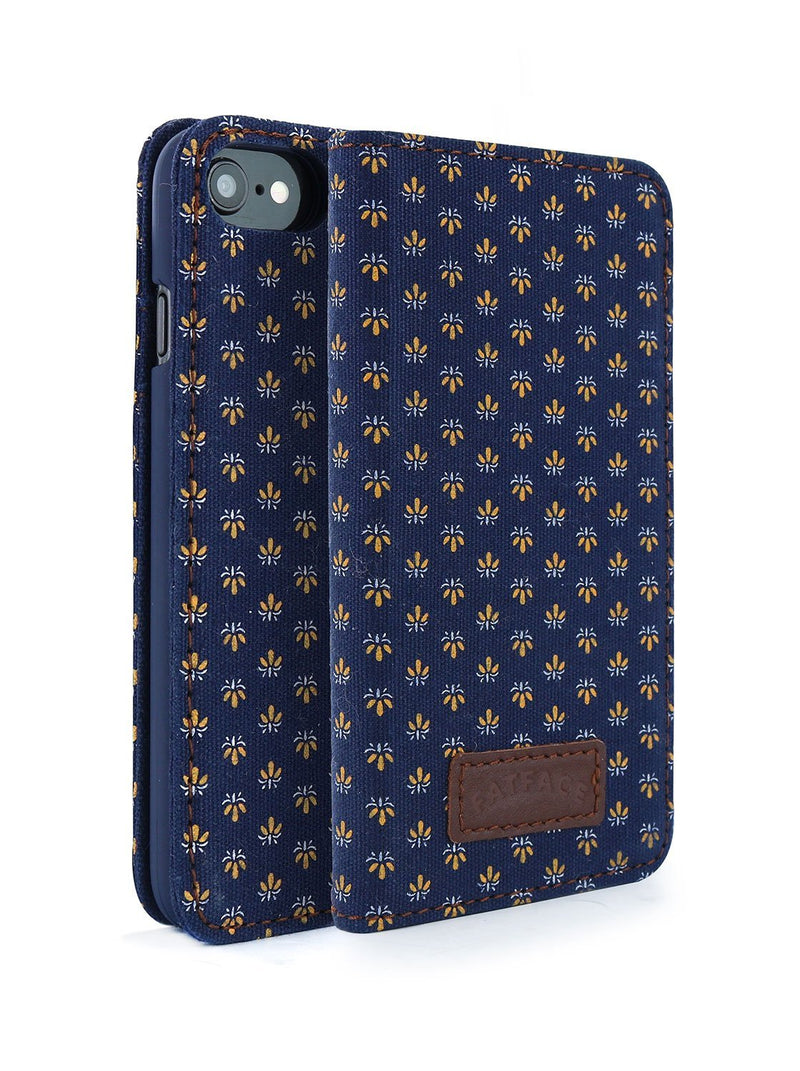 Front and back image of the Fat Face Apple iPhone 8 / 7 / 6 phone case in Blue