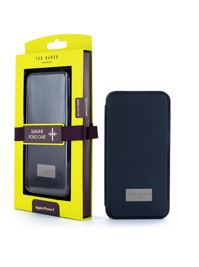 Packaging image of the Ted Baker Apple iPhone XR phone case in Navy Blue
