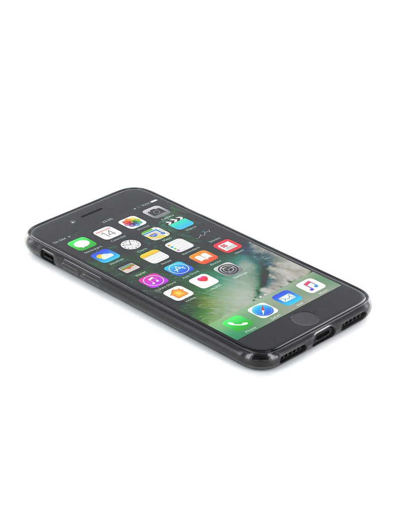 Face up image of the Proporta Apple iPhone 8 / 7 / 6S phone case in Black