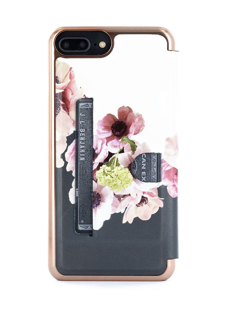 Back card slot image of the Ted Baker Apple iPhone 8 Plus / 7 Plus phone case in Black