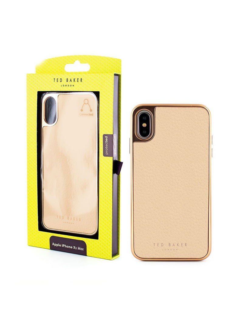 Packaging image of the Ted Baker Apple iPhone XS Max phone case in Taupe