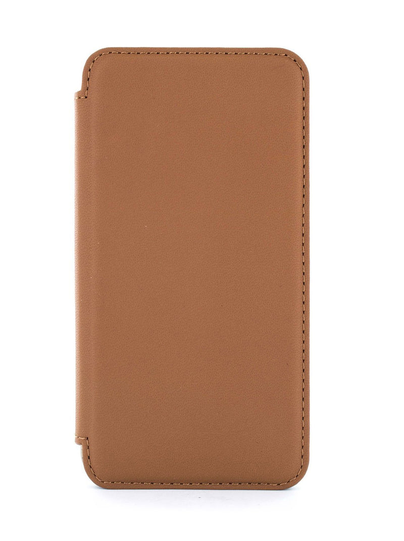 Hero image of the Greenwich Apple iPhone XS / X phone case in Saddle Brown
