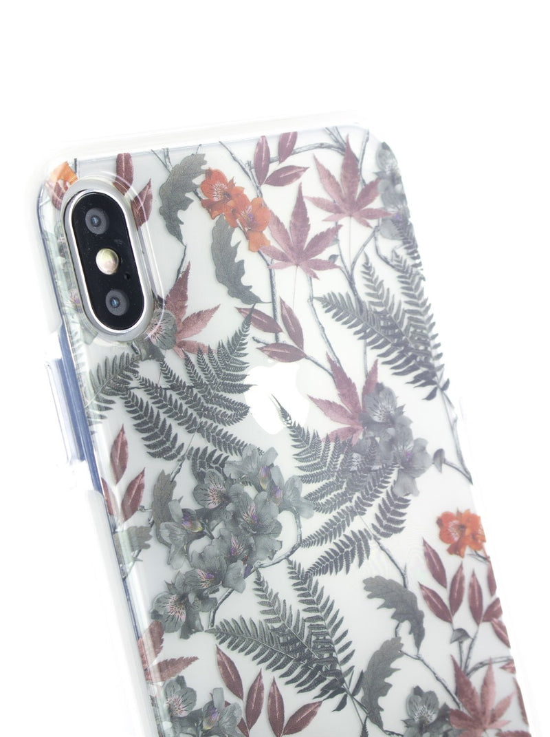 Detail image of the Ted Baker Apple iPhone XS Max phone case in Clear Print