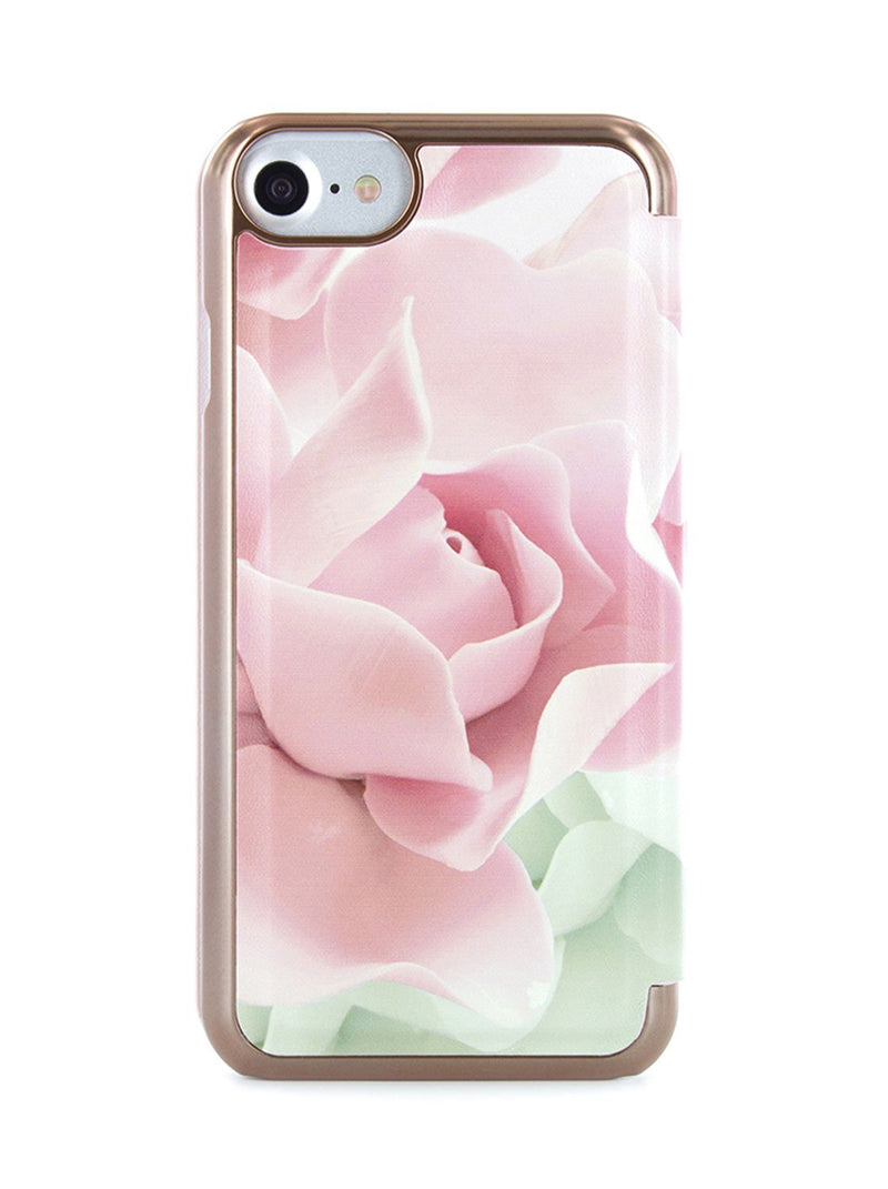 Ted Baker KNOWAI Mirror Folio Case for iPhone SE (2020) / iPhone 8 - Porcelain Rose (Nude)